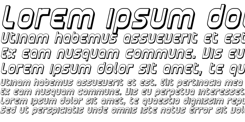 Sample of Plasmatica Shaded Italic