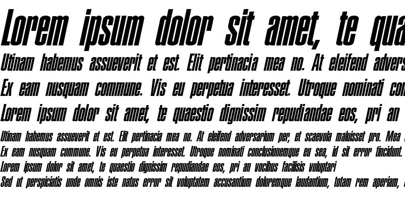 Sample of Pledge Italic