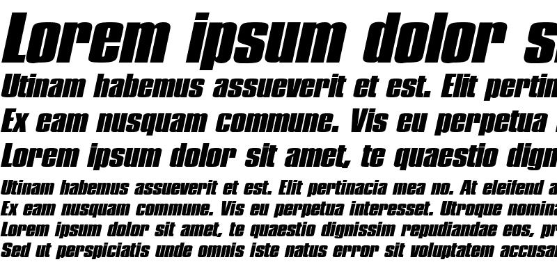 Sample of PledgeBlack Italic