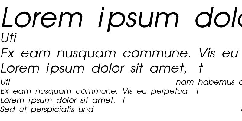 Sample of Poet Thin, Italic