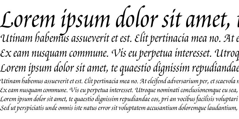 Sample of Poetica Chancery III