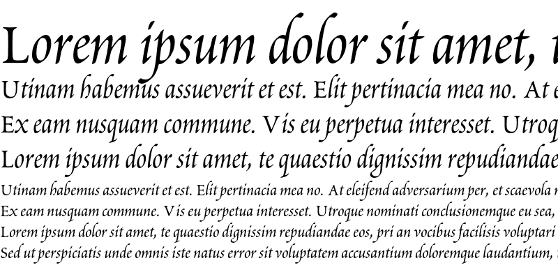 Sample of Poetica Chancery IV