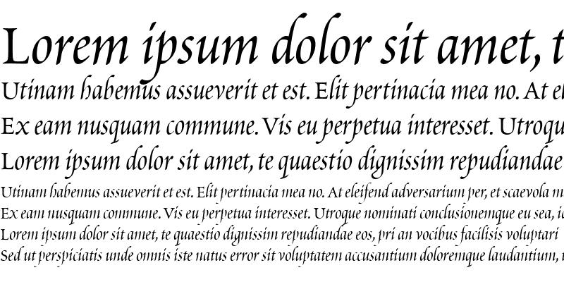 Sample of Poetica ChanceryIV
