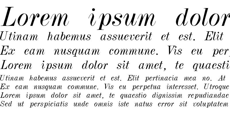 Sample of PolarSSK Italic