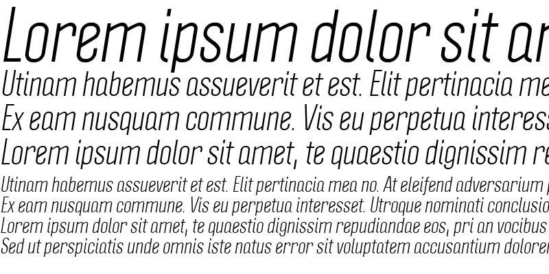 Sample of Politica Italic