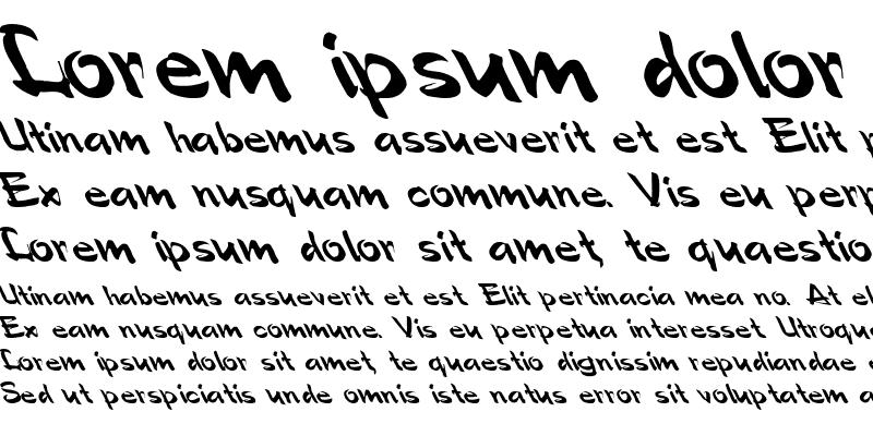 Sample of Polo-Semi Script Leftified Regular