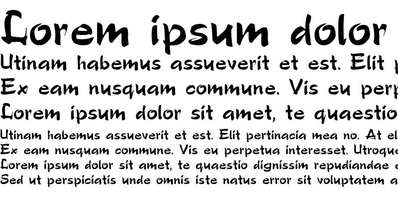 Sample of PoloSemiScript Regular