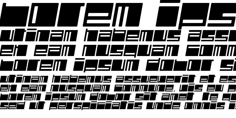 Sample of Polydiscous Medium Italic