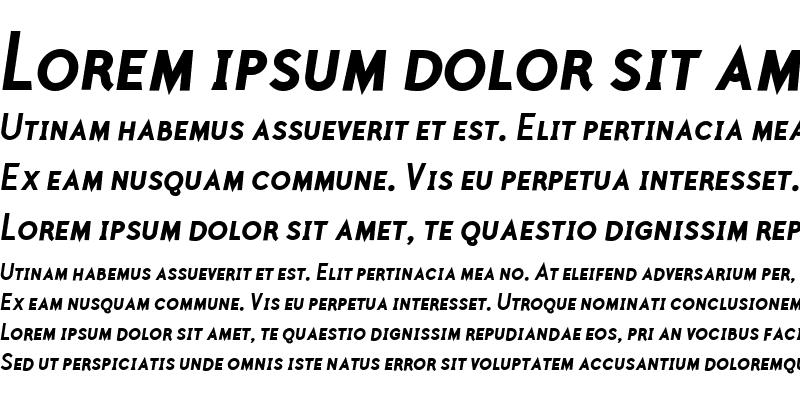 Sample of Polymer Caps Bold Italic