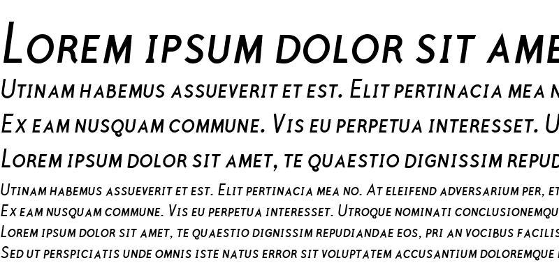 Sample of Polymer Caps Book Italic
