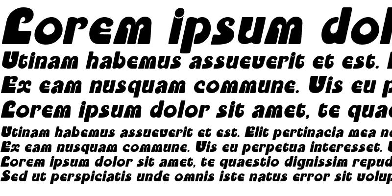 Sample of PookyDisplay Italic