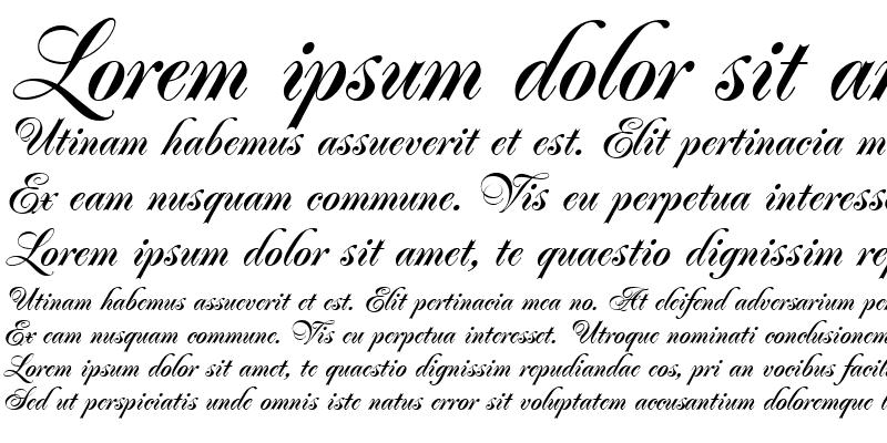Sample of Poppl-Residenz ItalicBold