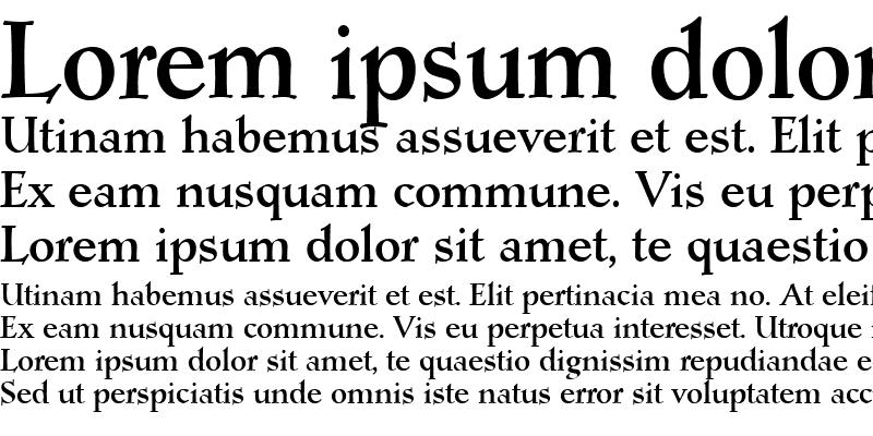 Sample of Post Mediaeval Bold
