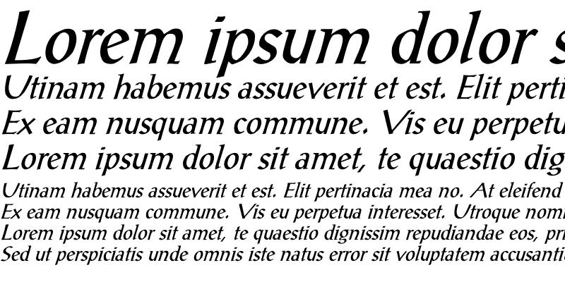 Sample of PostAntiqua-Roman Italic Italic