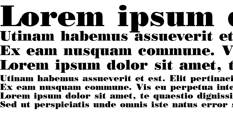 Sample of Poster Bodoni Bold