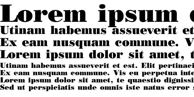 Sample of Poster Bodoni