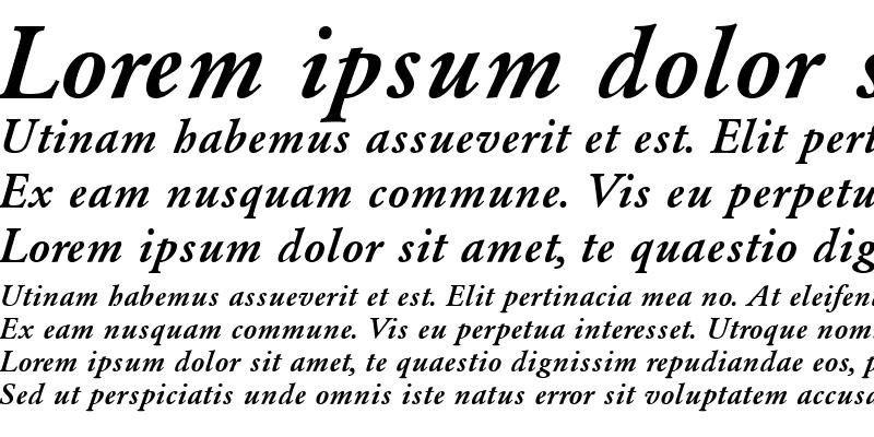 Sample of PP-Garamond Medium-Italic