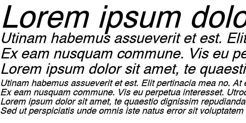 Sample of PP-Helvetic