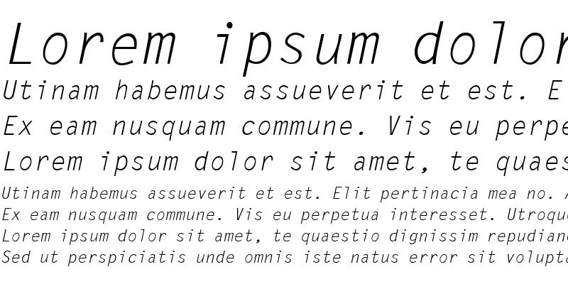 Sample of PP-LetterGothic