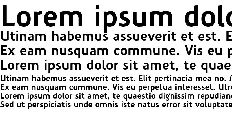 Sample of PreciousSans Regular