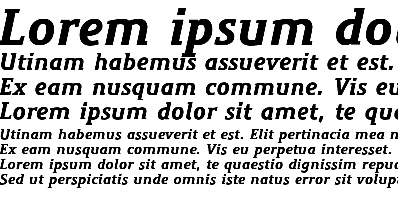 Sample of PreciousSerifBlackItalic Regular