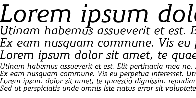 Sample of PreciousSerifMediumItalic Regular