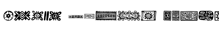 Preview of PreColumbian Ornaments One Regular