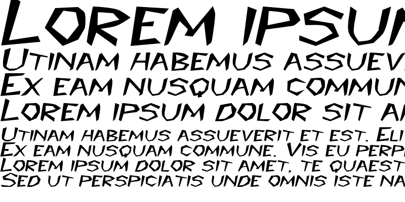 Sample of PrehistoricExtended Italic
