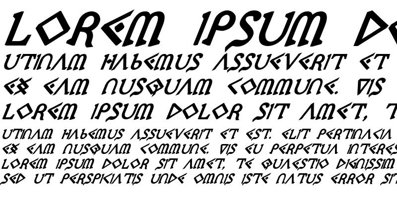 Sample of Presley Press ExtraBold Ital