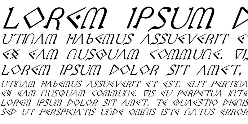 Sample of Presley Press Italic