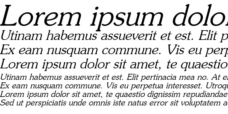 Sample of Prestige-Italic