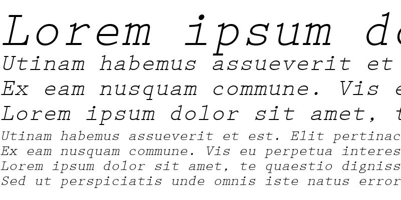 Sample of Prestige LT Elite Italic