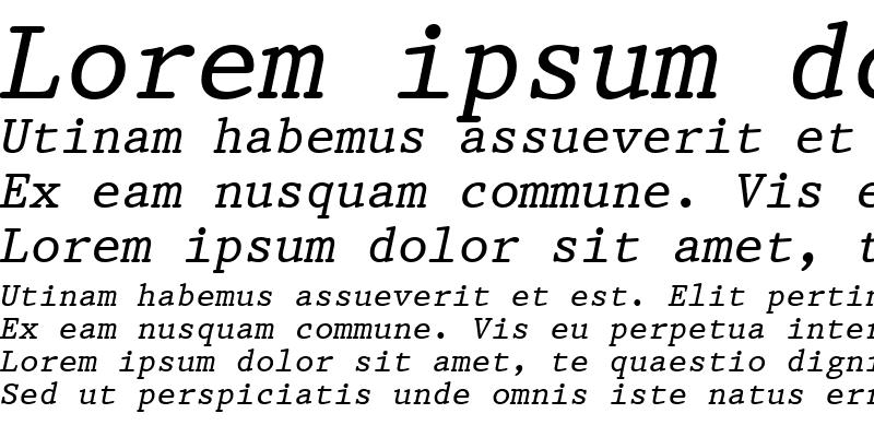 Sample of Prestige12 BT Italic