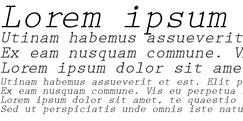 Sample of PrestigeTwo RegularItalic