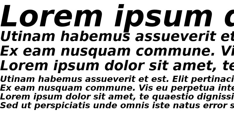 Sample of PrimaSans BT Bold Oblique