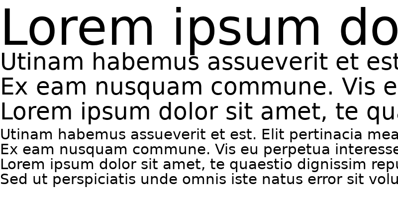 Sample of PrimaSans BT