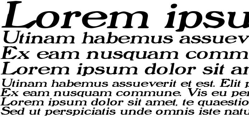 Sample of ProphetExtended Italic