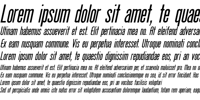Sample of Protege Italic