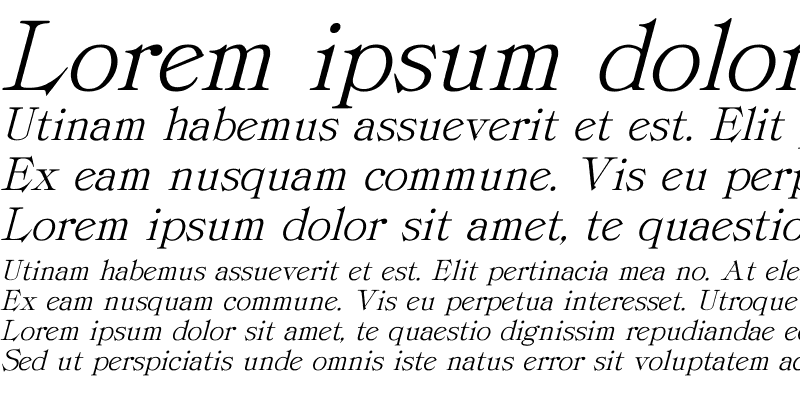 Sample of ProvLite Italic