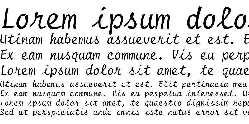 Sample of PT Regula Script Normal