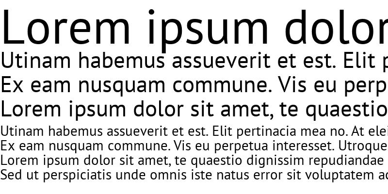 Sample of PT Sans