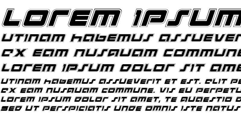Sample of Pulse Rifle Academy Italic