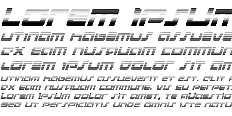 Sample of Pulse Rifle Gradient Italic Italic