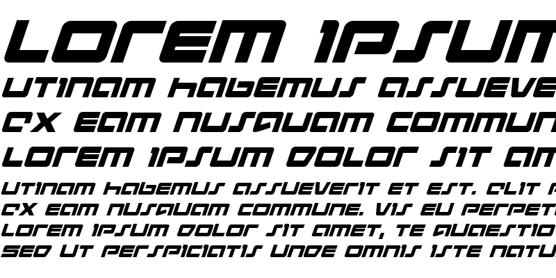 Sample of Pulse Rifle Italic