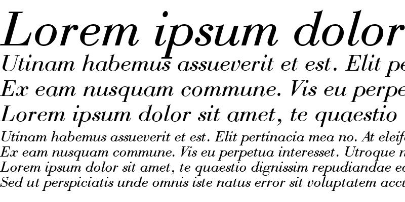 Sample of QTBodini Italic