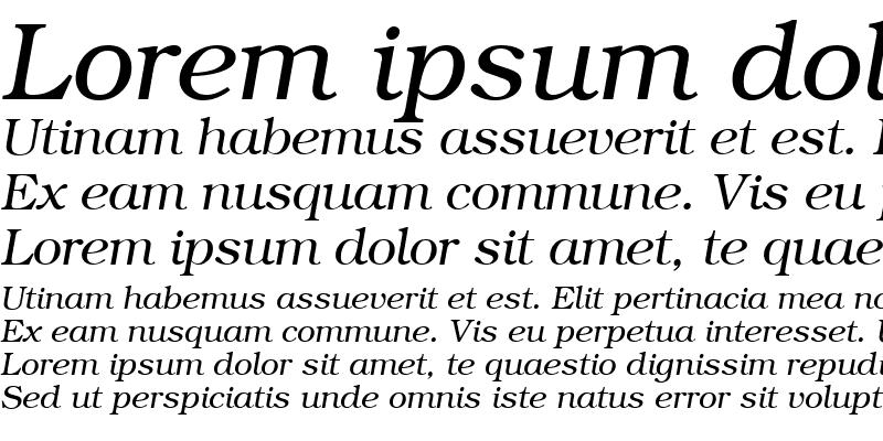 Sample of QTBookmann Italic