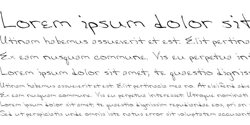 Sample of QTHandwriting