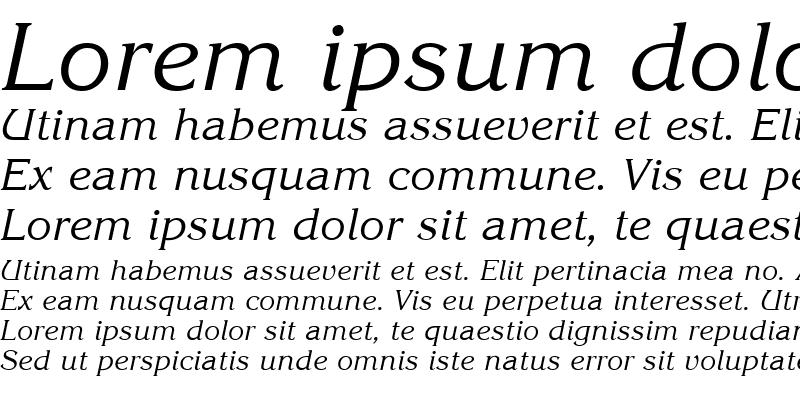Sample of QTKorrin Italic