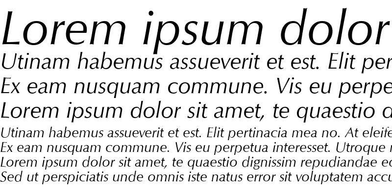 Sample of QTOptimum Italic