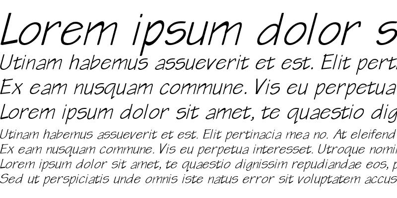 Sample of QTTechtone Bold Italic